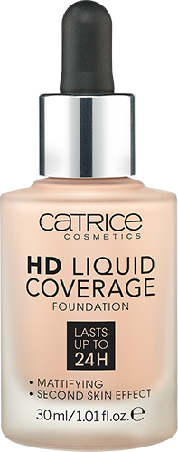 Основа тональная 010 Light Beige HD LIQUID COVERAGE FOUNDATION Catrice